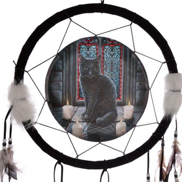 Lisa Parker Posvátný kruh s kočkou Lapač snů 33cm 2 - pro milovníky koček