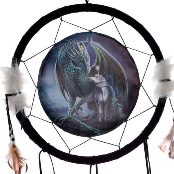Lisa Parker Protector of Magick Dragon Lapač snů 33cm 2 - pro milovníky koček