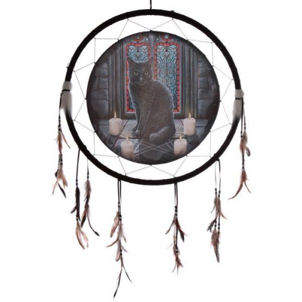 Lisa Parker Posvátný kruh s kočkou Lapač snů 60cm 1 - pro milovníky koček
