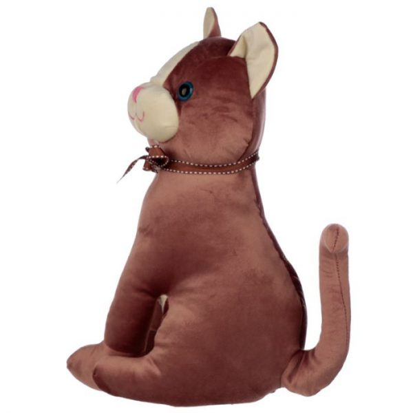Hnědá kočka se stuhou Zarážka do dvěří 4 - pro milovníky koček