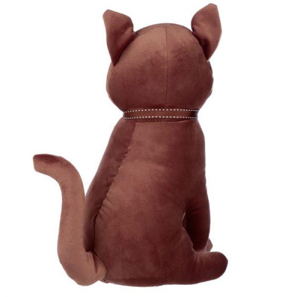 Hnědá kočka se stuhou Zarážka do dvěří 3 - pro milovníky koček