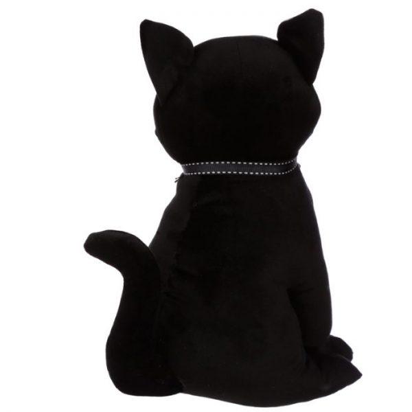 Černá kočka se stuhou Zarážka do dvěří 2 - pro milovníky koček