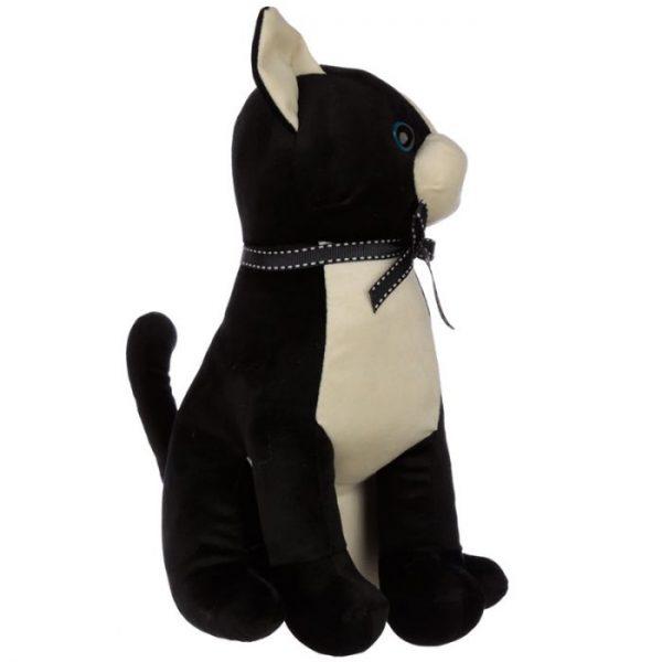 Černá kočka se stuhou Zarážka do dvěří 3 - pro milovníky koček