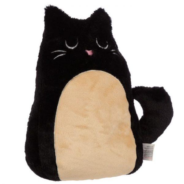 Feline Fine černá plyšová kočka Zarážka do dvěří 1 - pro milovníky koček