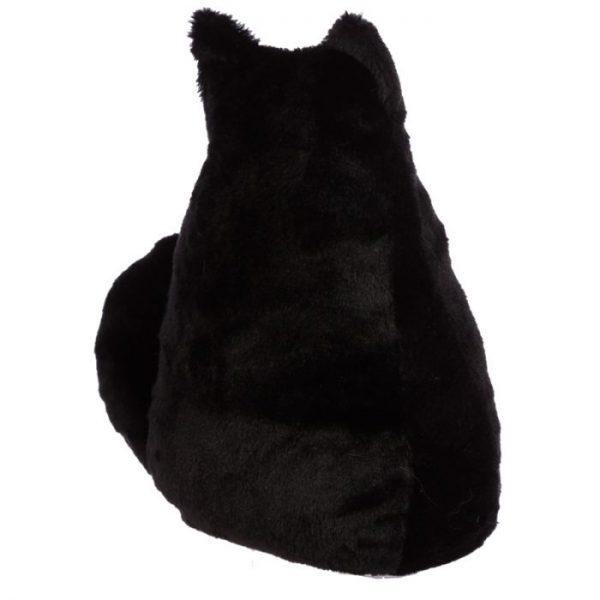 Feline Fine černá plyšová kočka Zarážka do dvěří 4 - pro milovníky koček