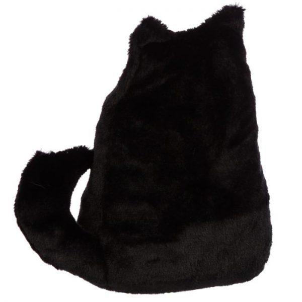 Feline Fine černá plyšová kočka Zarážka do dvěří 3 - pro milovníky koček