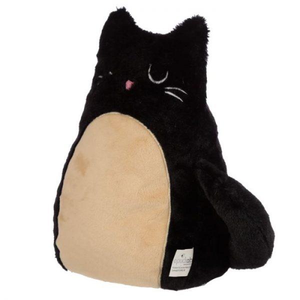 Feline Fine černá plyšová kočka Zarážka do dvěří 2 - pro milovníky koček