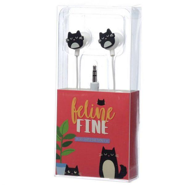 Kočka Feline Fine Shaped Novelty Sluchátka 6 - pro milovníky koček