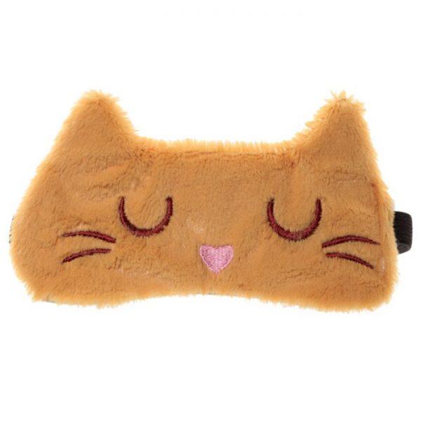 Maska na oči kočička Feline Fine hnědá 5 - pro milovníky koček