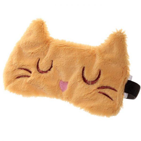 Maska na oči kočička Feline Fine hnědá 1 - pro milovníky koček