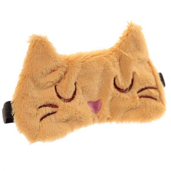 Maska na oči kočička Feline Fine hnědá 6 - pro milovníky koček