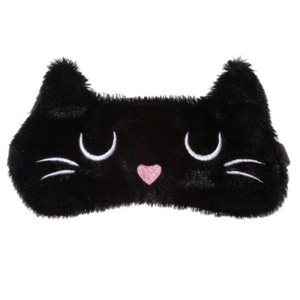 Maska na oči kočička Feline Fine hnědá 9 - pro milovníky koček