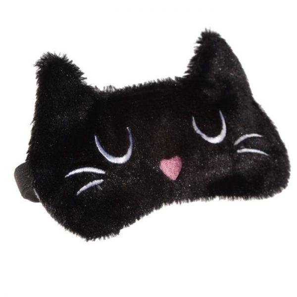 Maska na oči kočička Feline Fine hnědá 3 - pro milovníky koček