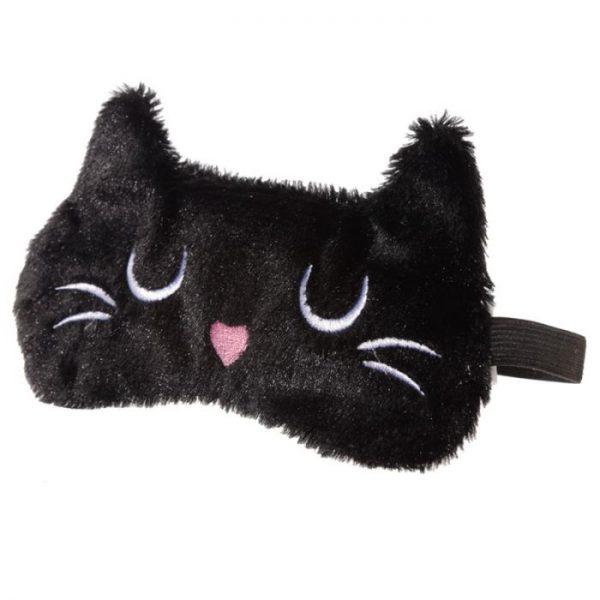 Maska na oči kočička Feline Fine hnědá 2 - pro milovníky koček