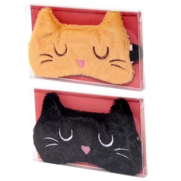 Maska na oči kočička Feline Fine hnědá 8 - pro milovníky koček