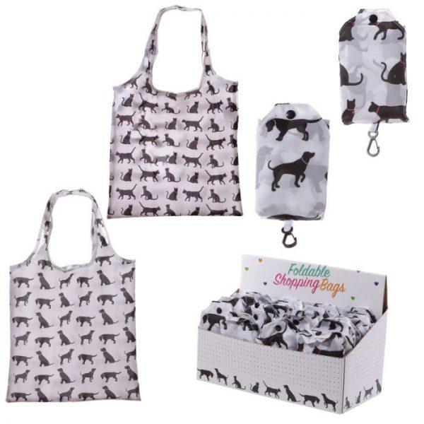 Skládací Nákupní taška - I Love My Cat & I Love My Dog 1 - pro milovníky koček