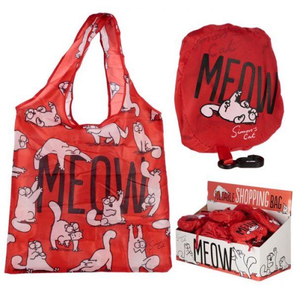 Skládací Nákupní taška - Simon's Cat MEOW Design 1 - pro milovníky koček