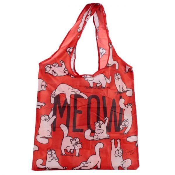 Skládací Nákupní taška - Simon's Cat MEOW Design 5 - pro milovníky koček