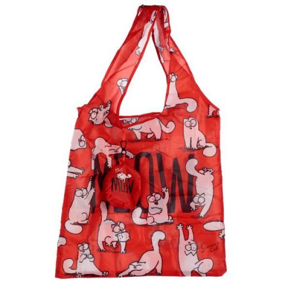 Skládací Nákupní taška - Simon's Cat MEOW Design 2 - pro milovníky koček