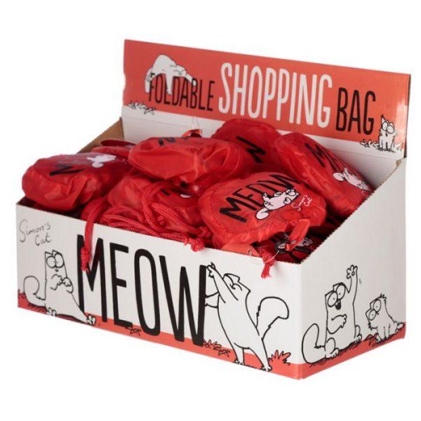 Skládací Nákupní taška - Simon's Cat MEOW Design 4 - pro milovníky koček