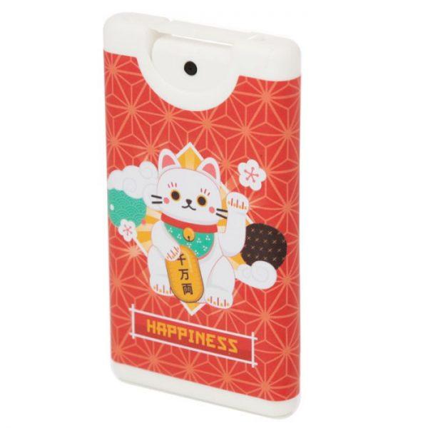 Dezinfekce na ruce ve spreji s motivem kočičky pro štěstí Maneki Neko 2 - pro milovníky koček