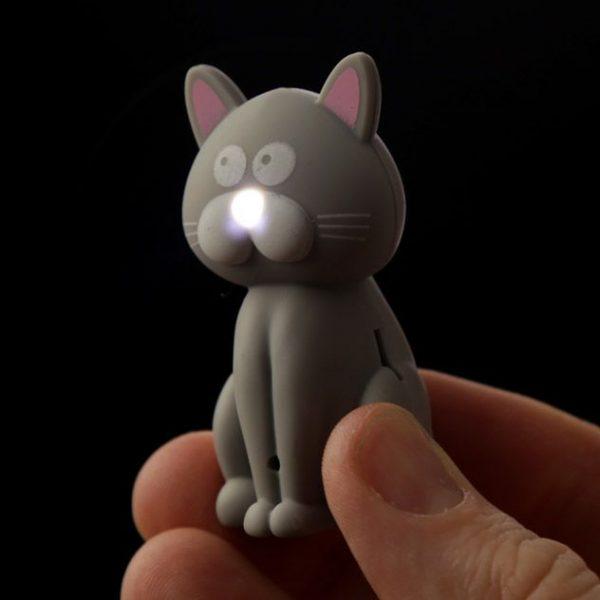 Kočičí LED mňaukající klíčenka 7 - pro milovníky koček