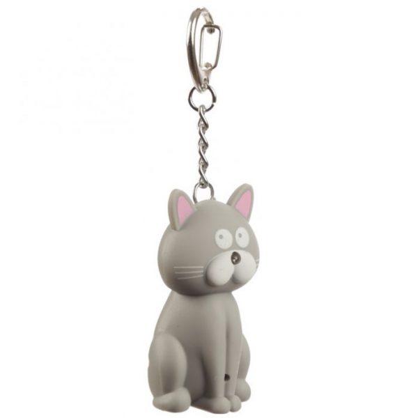 Kočičí LED mňaukající klíčenka 2 - pro milovníky koček