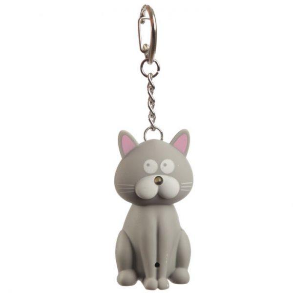 Kočičí LED mňaukající klíčenka 3 - pro milovníky koček