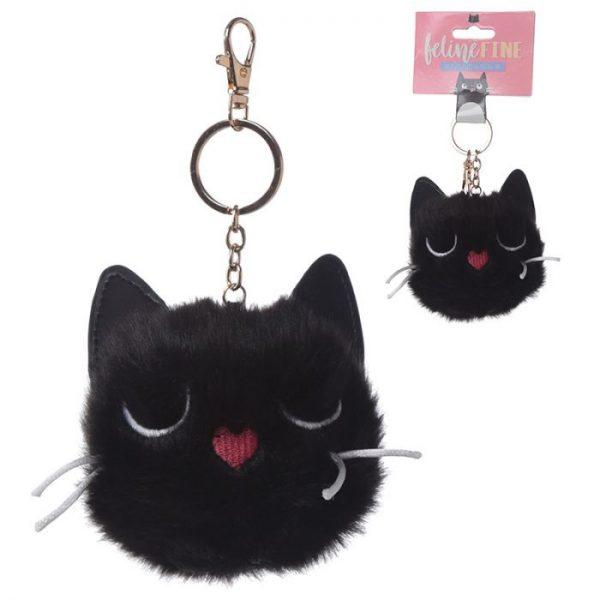 Kočka Feline Fine Pom Pom Klíčenka 1 - pro milovníky koček