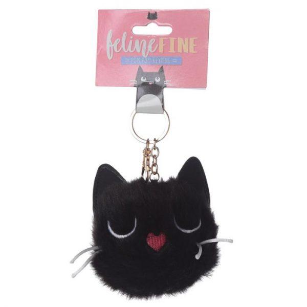 Kočka Feline Fine Pom Pom Klíčenka 5 - pro milovníky koček
