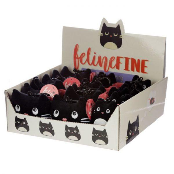 Klíčenka Kočka Feline Fine Squishy Plush 4 - pro milovníky koček