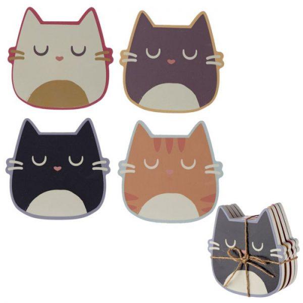 Kočka Feline Fine Set 4 tácků 1 - pro milovníky koček