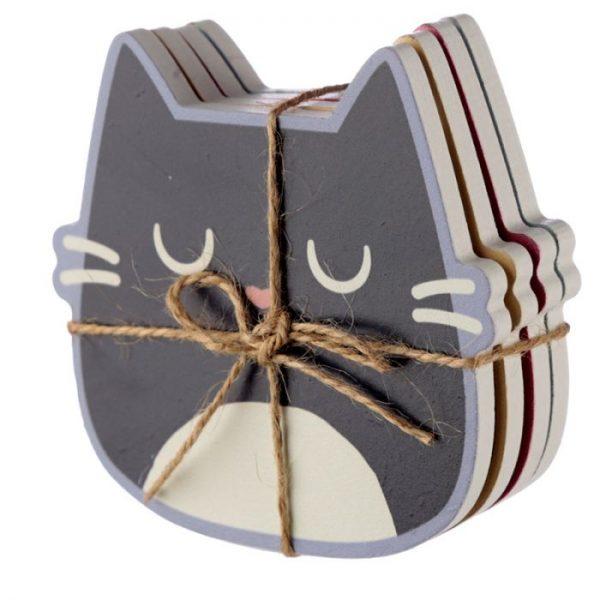 Kočka Feline Fine Set 4 tácků 2 - pro milovníky koček