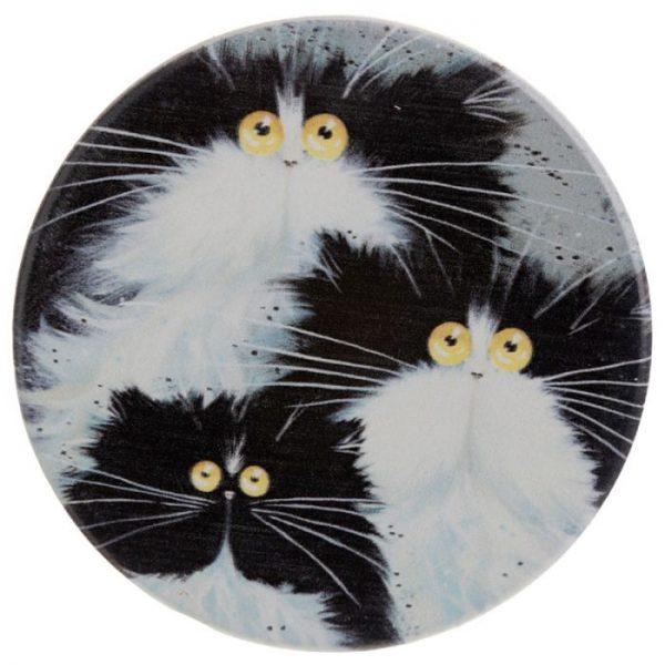 Kim Haskins Kočky Set 4 tácků 3 - pro milovníky koček