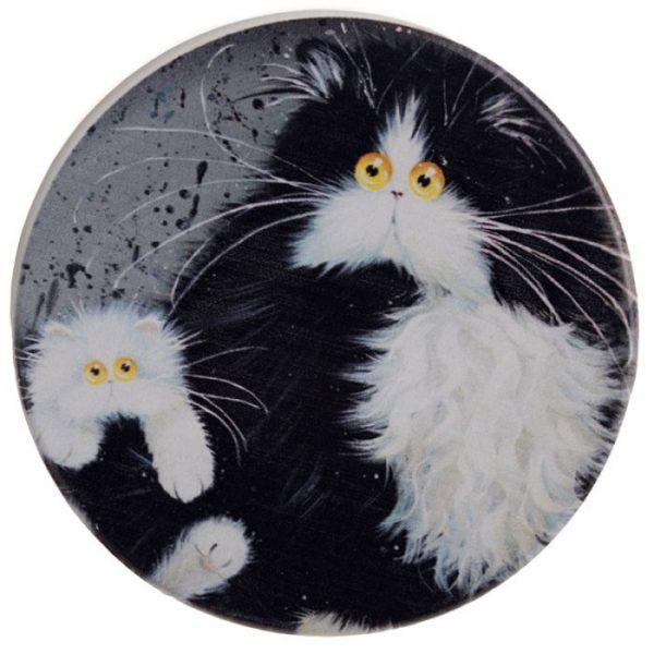 Kim Haskins Kočky Set 4 tácků 6 - pro milovníky koček