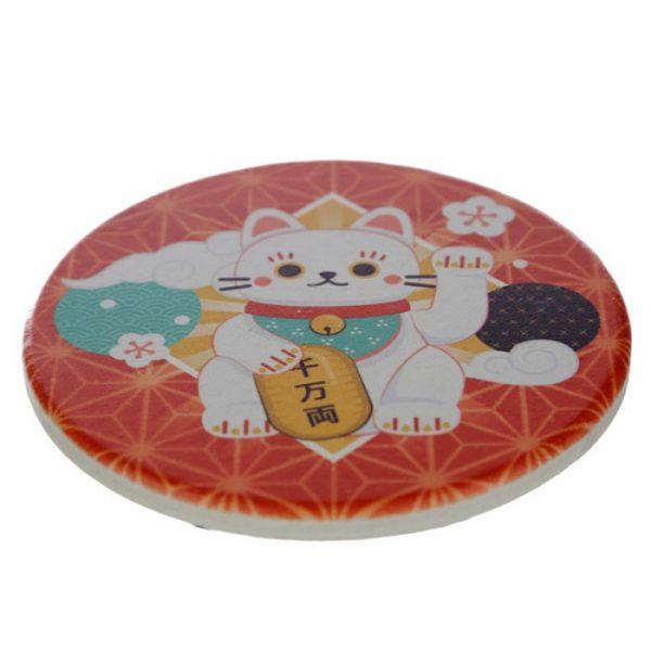 Set 4 tácků Maneki Neko - kočka štěstí 4 - pro milovníky koček