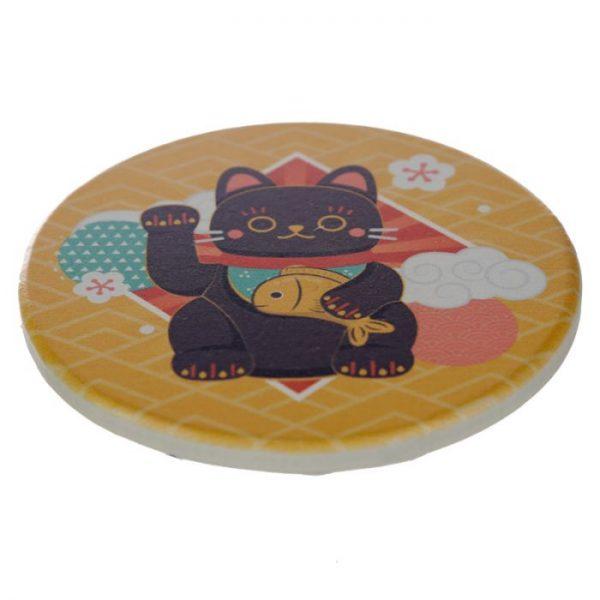 Set 4 tácků Maneki Neko - kočka štěstí 2 - pro milovníky koček