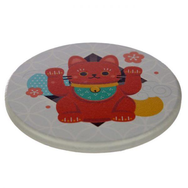 Set 4 tácků Maneki Neko - kočka štěstí 6 - pro milovníky koček