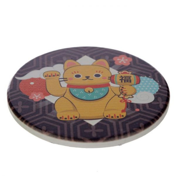 Set 4 tácků Maneki Neko - kočka štěstí 3 - pro milovníky koček