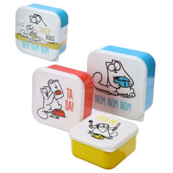 Set 3 krabiček na svačinu S/M/L - Simon's Cat 1 - pro milovníky koček