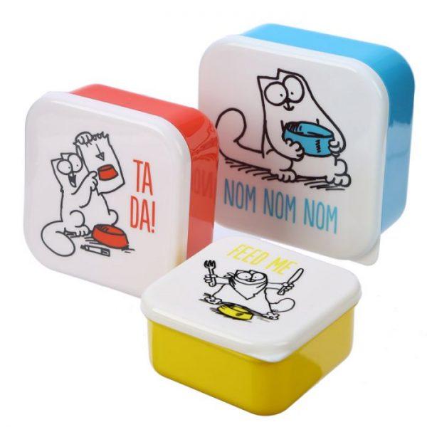 Set 3 krabiček na svačinu S/M/L - Simon's Cat 5 - pro milovníky koček