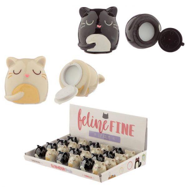 Balzám na rty v držáku kočky Feline Fine 1 - pro milovníky koček