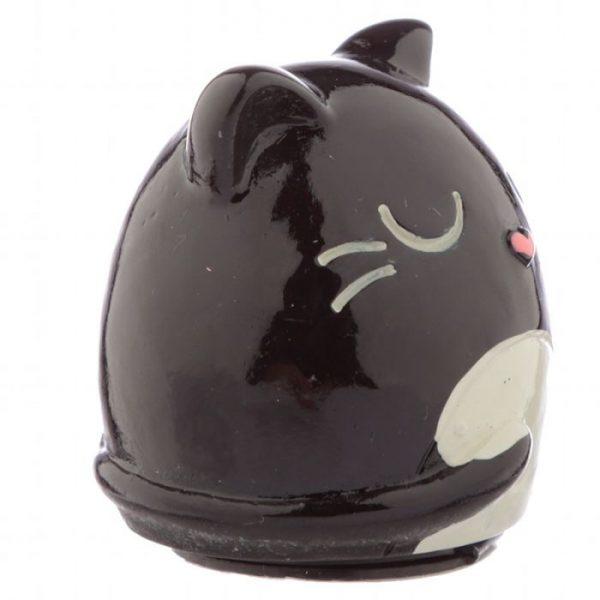 Feline Fine Cat Balzám na rty v držáku ve tvaru kočky - černý 2 - pro milovníky koček