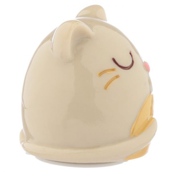 Feline Fine Cat Balzám na rty v držáku ve tvaru kočky - bílý 2 - pro milovníky koček