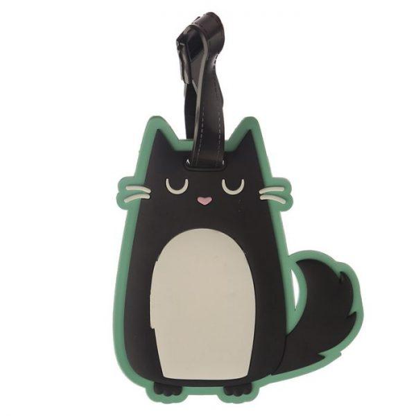 Kočka Feline Fine PVC Štítek na zavazadlo 2 - pro milovníky koček