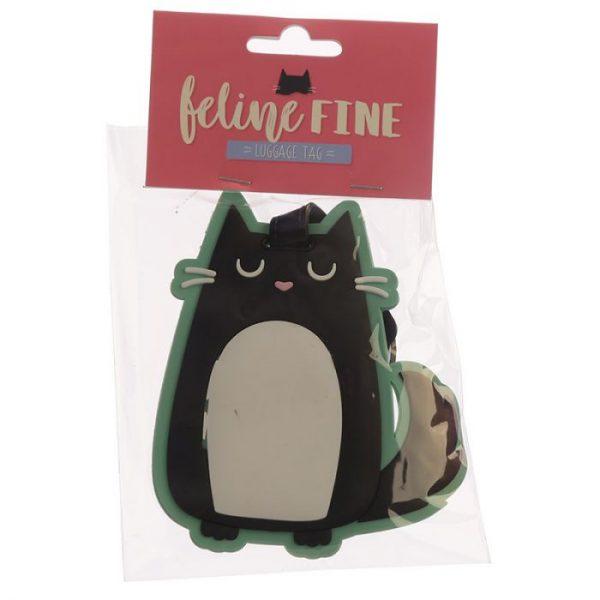 Kočka Feline Fine PVC Štítek na zavazadlo 3 - pro milovníky koček