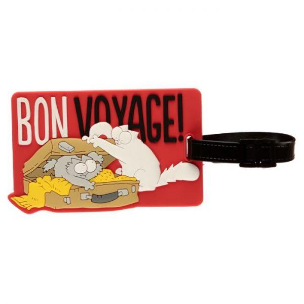 Simon's Cat Bon Voyage! PVC Štítek na zavazadlo 3 - pro milovníky koček