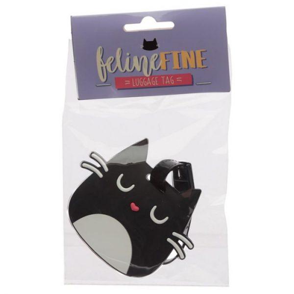 Kočka Feline Fine Head PVC Štítek na zavazadlo 1 - pro milovníky koček