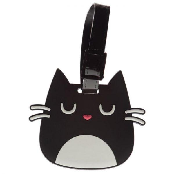 Kočka Feline Fine Head PVC Štítek na zavazadlo 2 - pro milovníky koček