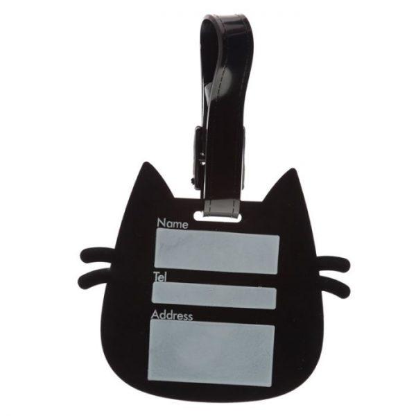 Kočka Feline Fine Head PVC Štítek na zavazadlo 3 - pro milovníky koček